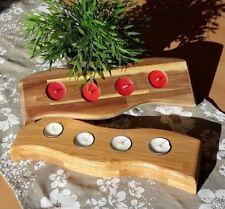 Teelichthalter für 4 Teelichte Massivholz