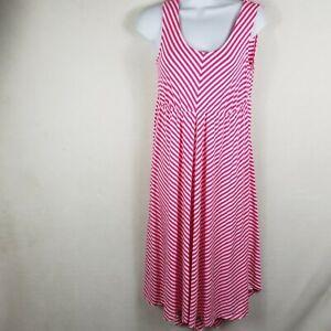 Isabel Maternity Womens Dress Red  Tank Sleeveless Striped Dress size-XS