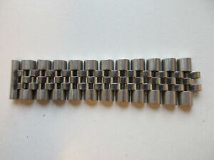 Rolex jubilee row of 11 watch bracelet links (3 removable) 16- 20 mm - used