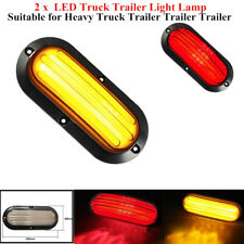 1Pair LED Car Turn Reverse Heavy Truck Tail Lamp Stop Rear Brake Light Indicator