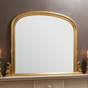 Gold Arched Frame Overmantle Wall Mirror EX-DISPLAY, B-STOCK * DEFECTS 119x94cm