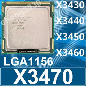 Intel Xeon X3430 X3440 X3450 X3460 X3470 LGA1156 CPU Processor