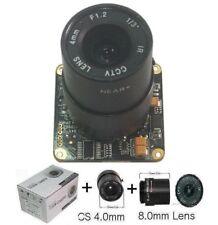 "Sunvision 650TVL 1/3"" Sony CCTV Board Camera + 4.0 & 8mm CS Lenses (BS65L3)"