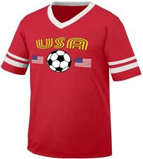 United States National Country Pride The Stars and Stripes Retro Ringer T-shirt