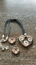 Brighton Heart Necklace and earring Set, Brown super cute looks great