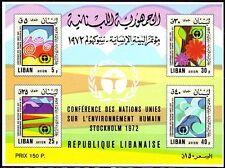 Libanon Lebanon 1975 ** Bl.40 Umweltschutz Environment protection Luft Air Natur
