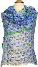 Sommer Boho Schal Blau Blumen Floral bedruckt, Modal, summer scarf stole modal
