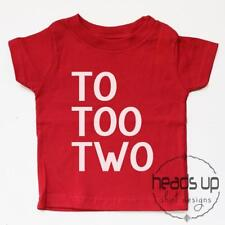 Second Birthday Shirt Toddler Boy or Girl To Too Two 2nd Bday tshirt Trendy Kid