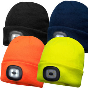 Portwest Light Up Beanie Rechargeable LED Beanie Hat - B029