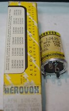 NOS AEROVOX AFH 1-24-25  ELECTROLYTIC CAN CAPACITOR 200 uFd 150 V Meas. 201 uF