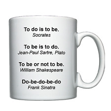 Philosophy, Philosopher - Personalised Mug / Cup - Socrates, Sinatra, Sartre