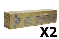 TN612C , A0VW435 Lot of 2 Genuine Konica Minolta C5501 C6501 Cyan Toner
