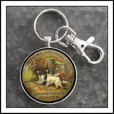 Vintage Gunpowder Tin DuPont Label Photo Keychain