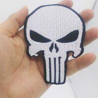 Biker Patch Punisher Death Head Totenkopf Reaper Skull  MC Kutte Chopper