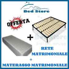 RETE + MATERASSO LETTO MATRIMONIALE IN MEMORY FOAM H20 160X190 CM OFFERTA