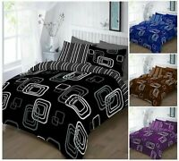 Luxury BLAKE Printed Reversible Duvet Quilt Cover + Pillow Case Bed Set All Size