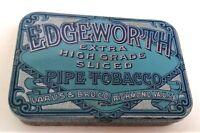 Vintage Edgeworth Extra High Grade Sliced Pipe Tobacco Tin Larus & Bro. VA. USA