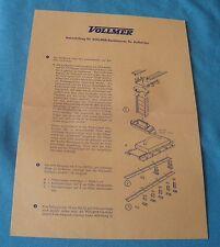 Vollmer w germany notice 2 feuilles ho 1:87 accessoires réseau train électrique