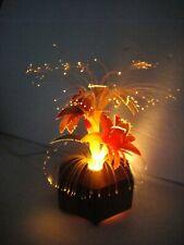 Extremely Rare Vintage Fiber Optic Flower Light Hexagon Wood Base