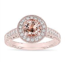 1.14 Carat Morganite Engagement Ring 14K White, Rose, Yellow or Black Gold