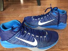 LN EUC NIKE ZOOM ASCENTION BASKETBALL SHOE MENS 12.5 ROYAL BLUE