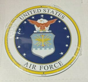 "United States Air Force 12"" ROUND METAL SIGN ~"