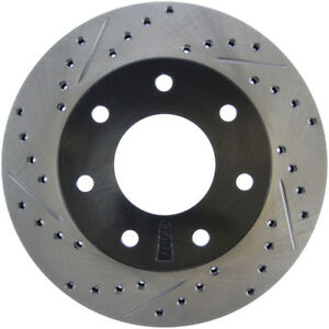 Disc Brake Rotor-Sport Drilled/Slotted Disc Front Right Stoptech 127.65062R