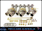 TRIPLE 45 DCOE HOLDEN 202 BLUE BLACK 12 PORT 6CYL SUIT WEBER CARB CARBY PACKAGE