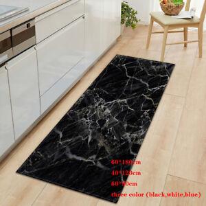 Marble Non-Slip Door Mat Long Hallway Runner Rugs Area Room Kitchen Floor Mats