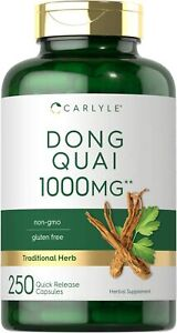 Dong Quai Capsules 1000mg 250 Count Non-gmo And Gluten Free Supplement