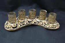 KITTENS VINTAGE GOLD METAL LIPSTICK HOLDER FOR 5 TUBES
