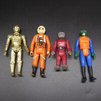 70s GMFGI Star Wars Action Figure Lot 4 C-3PO Luke X-Wing Snaggletooth Walrusman