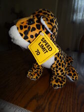 """1989 Applause speed Limit 70 Cheetah 8"""" Stuffed Plush Girl Scouts Abc Exclusive"""
