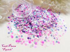 Nail Art *PopSicle* Pastel Pinks Hexagon Translucent Holographic Mix Glitter Pot