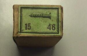Alte Holz-Schrauben In Originalverpackung 15mm lang, Eisen, Schlitz