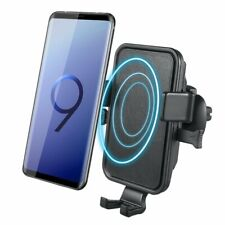 Wireless Car Charger QI Fast Charging Air Vent Mount Phone Holder iPhone Samsung
