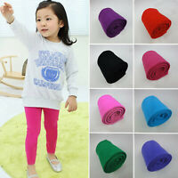 Kids Winter Warm Thick Legging Pants Girls Casual Cotton Stretch Tight Trousers