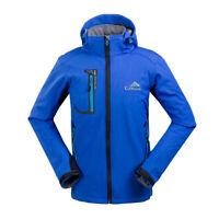 New Men Soft Shell Outdoor Jacket Waterproof Windstopper Hiking Camping Ski Coat