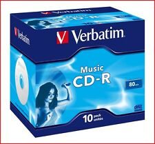 Verbatim CD-R 700MB 16x Speed 80min Recordable Digital Audio Discs Jewel Pack 10