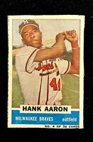 1960 Bazooka #4 Hank Aaron Milwaukee Braves Handcut Baseball Card