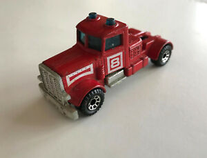 1984 MATCHBOX PETERBILT TRACTOR Only; From the ARTICULATED FIRE SET; Macau