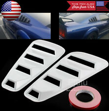 White Rear 1/4 Quarter Side Window Cover Louver Scoop Vent For 05-14 Mustang