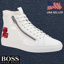 HUGO BOSS White Athletic Shoes for Men