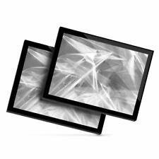 2x Glass Placemats 20x25 cm - BW - ky Holographic Retro  #35531