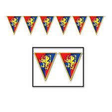 MEDIEVAL Knights Castle Renaissance Fair  STREAMER Banner Birthday Party Decorat