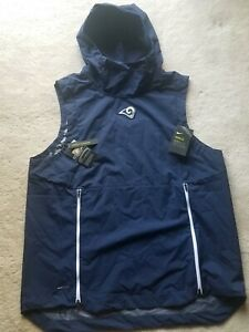 NWT Los Angeles Rams Nike Sideline Fly Rush Sleeveless Navy Hoodie Size XXL