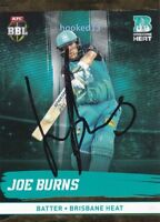 16/17 Joe Burns Big Bash League Signed GOLD Card Brisbane Heat