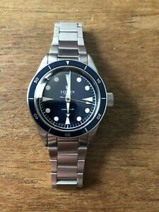 Lorier Neptune Series 2 - 39mm blue dial diver - Seiko NH35A automatic movement