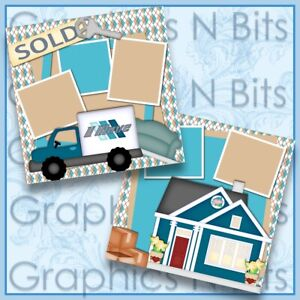 "SOLD 12""x12"" Printed Premade Scrapbook Pages"
