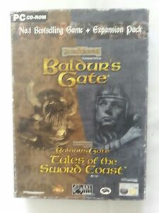 Forgotten realms Baldurs gate +expansion pack PC game complete FREE SHIPPING